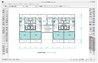 JWCAD操作画面イメージ